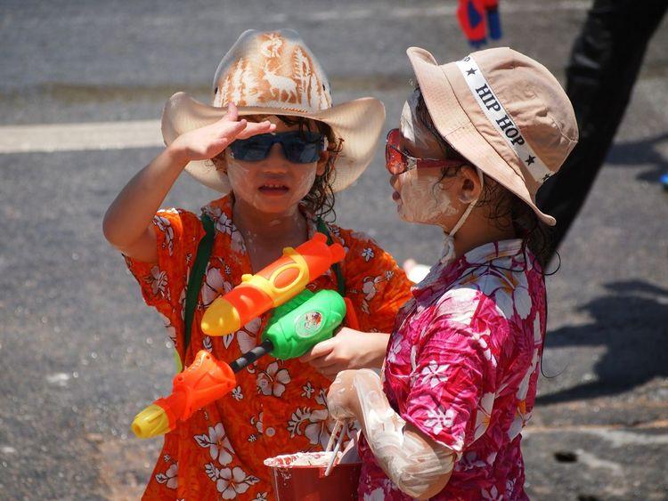 Spotted In Thailand Songkran Pattaya Thailand Water Gun Girls
