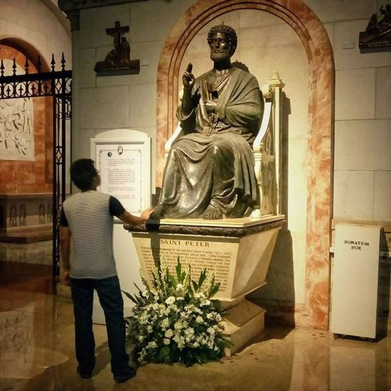 First Disciple. Stpeter Saint Disciple Religion Belief Faith ManilaCathedral Manila Philippines Mobilephotography Intramuros Church Design Style Statue Figure