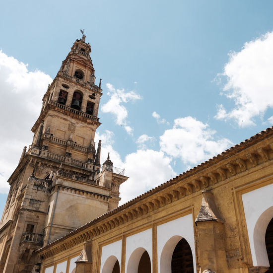 Arch Architecture Architecture Building Exterior Buildings Built Structure Cloud - Sky Day History Low Angle View No People Ocher Ocher Color Ochre Ocre Outdoors Place Of Worship Religion Sky SPAIN Spirituality Travel Destinations