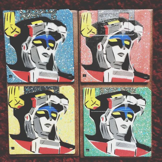 Defender of the Universe VOLTRON Stencil ArtWork Street Artist Voltron $10 for sale! $15 if needed to be mailed