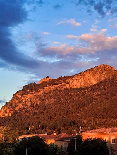 Castle Views Spain🇪🇸 View Sunset València Castle History Xativa Xativa's Castle Reflection Astronomy Rock - Object Mountain Sky Landscape Historic Building Historic Civilization Orange Color Old Ruin Rock Formation