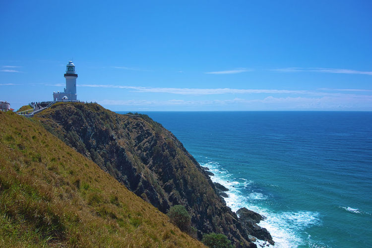 Australia Byron Bay Byron Bay Lighthouse Lighthouse Architecture Beauty In Nature Building Building Exterior Built Structure Direction Guidance Horizon Horizon Over Water Land Lighthouse Nature No People Outdoors Scenics - Nature Sea Security Sky Tower Tranquil Scene Water