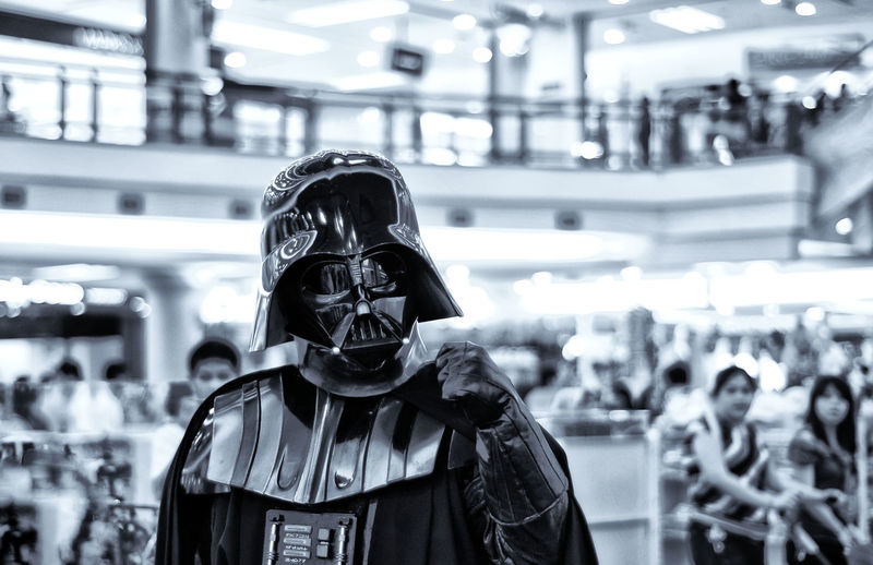 Darth Vader Darthvader Darth Vader Starwars Black Blackandwhite Black And White City Architecture Mask - Disguise Gas Mask Superhero Cape  Animal Imitation Heroes Costume Mask Eye Mask Evil Disguise Obscured Face Spooky