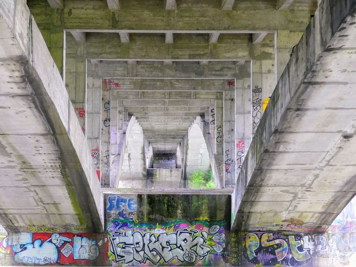 under the bridge Urban Art Perspective Perspective Photography Bridge Arch Bridge Photography Symetry Steps And Staircases Architecture Built Structure Street Art Graffiti Mural Spray Paint Scribble