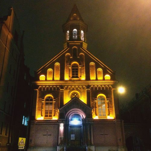 Clean look Architecture Place Of Worship Built Structure No People Façade Spirituality Спб Architecture Illuminated City Low Angle View Sky Outdoors Night