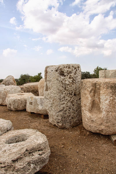 Beit Guvrin National Park Archeaology Beit Guvrin, Beit Jibren, Israel, Palestine, Israeli, Palestinian, National Park Cloud Cloud - Sky Cloudy Column Crusader Day Historical Monuments Historical Sights Judea Landscape National Park Nature Outdoors Rock - Object Rock Formation Roman Ruins Sky Stone Stone - Object Stone Material Stone Wall Tranquility