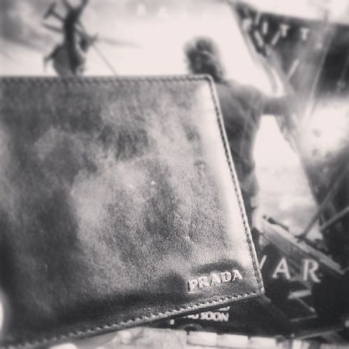 Better pic. Welcomehomegift TheyMissedMe Prada Wallet origional black leather igers picoftheday i_daily instamood