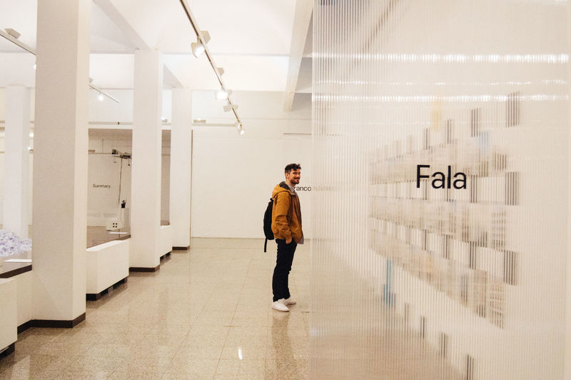 Fala I One Person Full Length Real People Architecture Building Indoors  Standing Men Young Men Young Adult Lifestyles Corridor Casual Clothing White White Background Minimalism Minimal EyeEm Best Shots Gallery Fashion Model