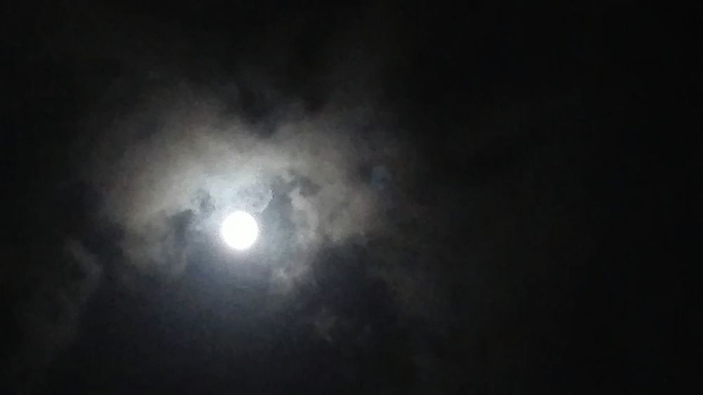 Blue moon 🌗🌘🌜🌖🌛 Night Full Moon Dark Moon Sky Illuminated No People Space Nature Astronomy Moonlight Outdoors Copy Space Light - Natural Phenomenon Low Angle View Mystery Beauty In Nature Tranquility Fog Ominous