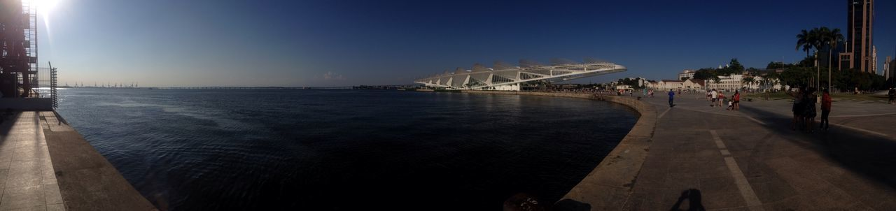 Panorama Clear Sky Architecture Travel Destinations Tomorrow Museum Guanabara Bay Baia Da Guanabara Olimpic Boulevard Panoramic Olimpic Games 2016 The City Light