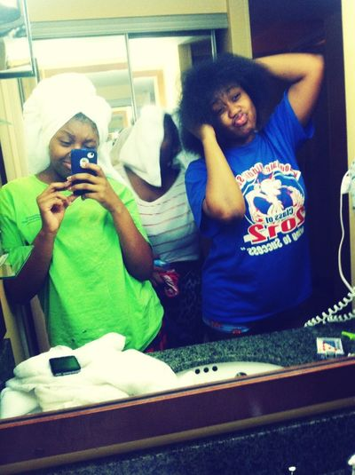 Us After The Pool !