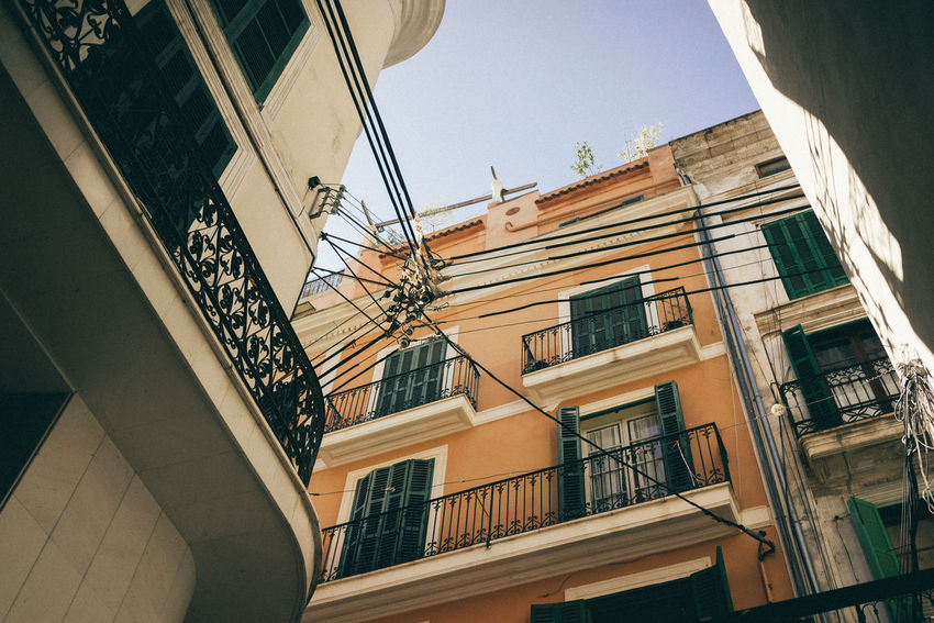 City Mallorca Palma De Mallorca Spanish Architecture Balcony Building Exterior Day Electricity  Energy No People Old Buildings Street