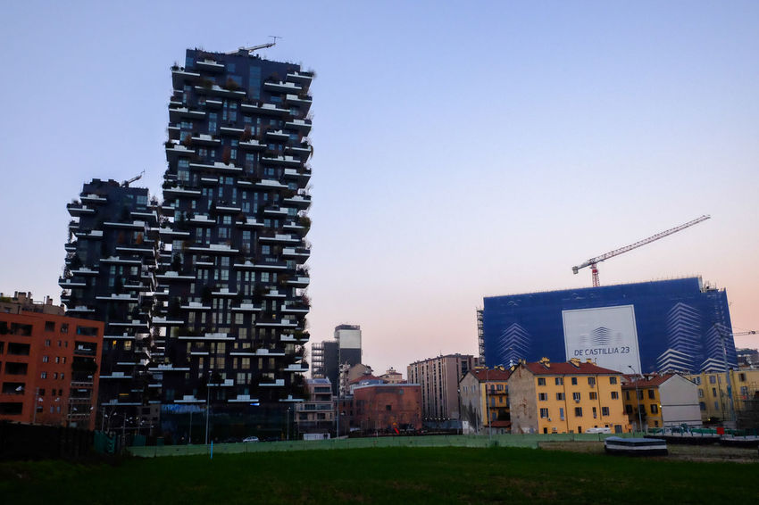 New and old growing harmoniously in Milan. Architecture Building Exterior Buildings Built Structure City City Life Cityscapes Italy Milan Milano Outdoors Porta Nuova Urban