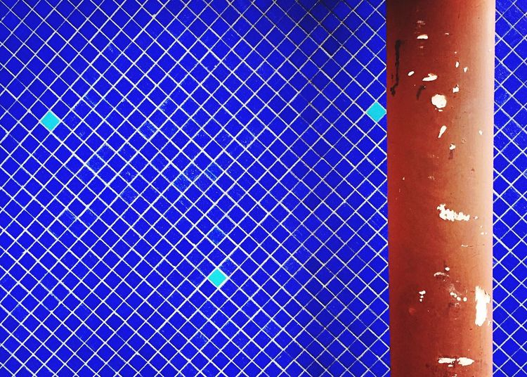 Wall Colors Colorful Red Blue Bluewall Tiles Bluetiles Redpipe Summer Eyeem Market Streetphotography Street Blueandwhite White Eye4photography  From My Point Of View First Eyeem Photo