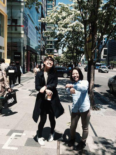 Japanese  Gangnam Japanese Girls Gangnam Style Seoul Trip Adorable Ladies Foreign Friendship Oldfriends KAWAII