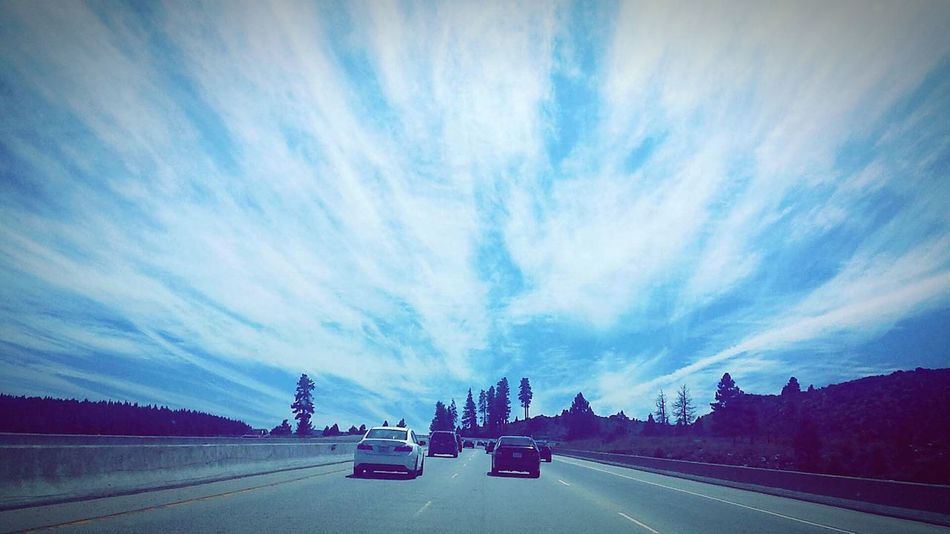Going places 🚗 Pretty Sky Blue Roadtrip CALIFORNIA LIVING Are We There Yet?  Relaxing Check This Out EyeEm Sky Lover Sky_collection