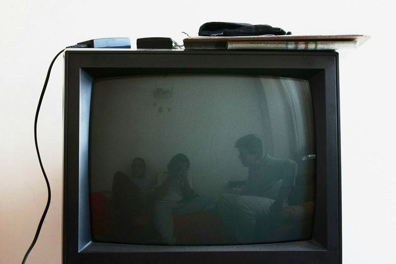 Family portrait on little old off tv Selfportrait Indoors  First Eyeem Photo