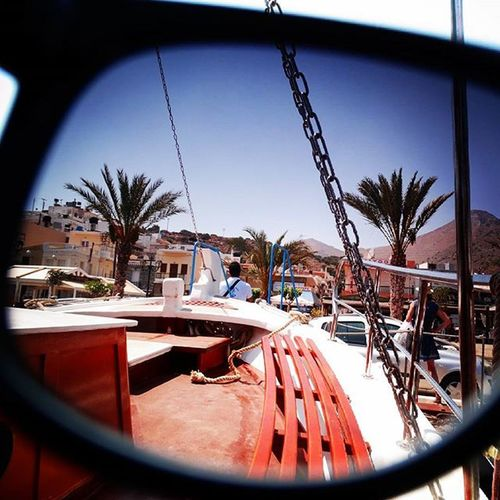 Sunglass-summer, boats, palm trees, heat and a coctail... any more wishes? :D Sunglass  Summer Sunglasssummer Boats Palmtrees Heat Coctail TBT  Crete Wannagoback Imisstheocean Loveit