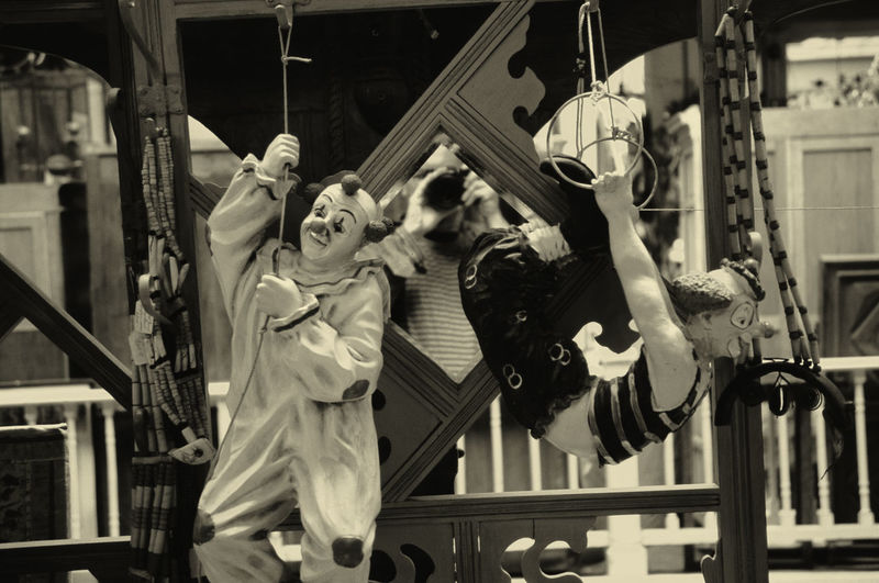 Jokers Performing Stunts At Circus