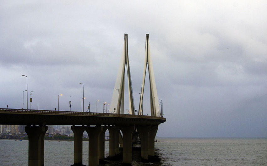BandraFort Architecture Bandra Worli Sea Link Bridge Bridge - Man Made Structure Built Structure Cloud - Sky Connection Day Horizon Horizon Over Water Mumbaimerijaan Mumbaisealink Mumbaitravellers Nature No People Outdoors Scenics - Nature Sea Sky Transportation Water Waterfront