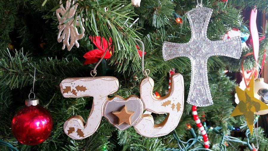 Close-up of christmas ornament