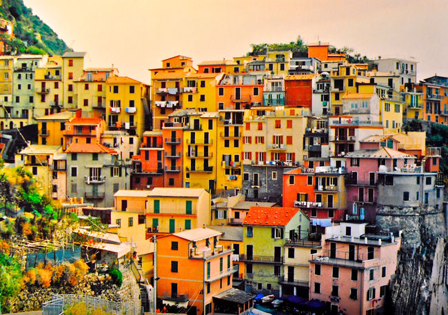 La Cinque Terre, Italy. La Cinque Terre Italy Italian Coastline Small Village Travel Photography Architecture Old Buildings Film Photography Colours Coloured Houses