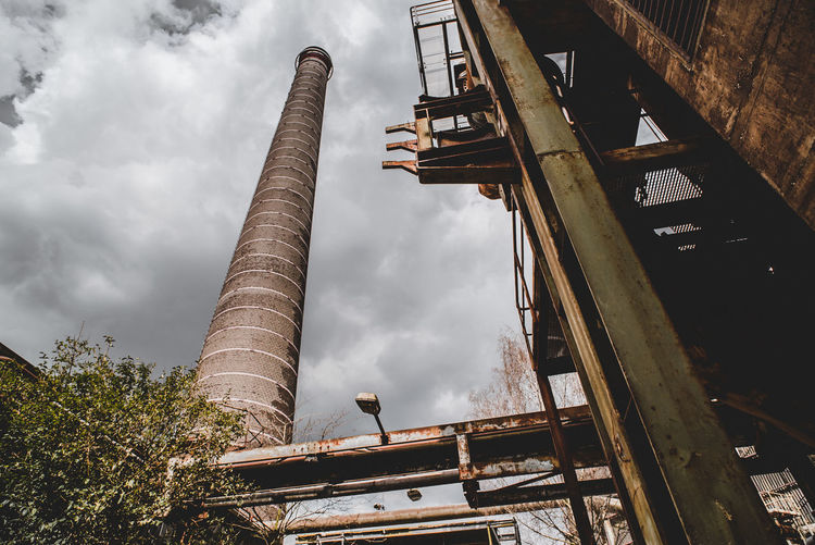 Landschaftspark Industrial Abandoned Architecture Bridge Bridge - Man Made Structure Building Building Exterior Built Structure Cloud - Sky Day Factory Industry Low Angle View Metal Nature No People Outdoors Plant Rusty Sky Tree
