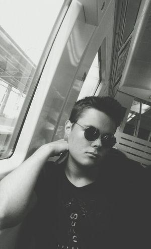 Riding The Train B&w Blac&white  People