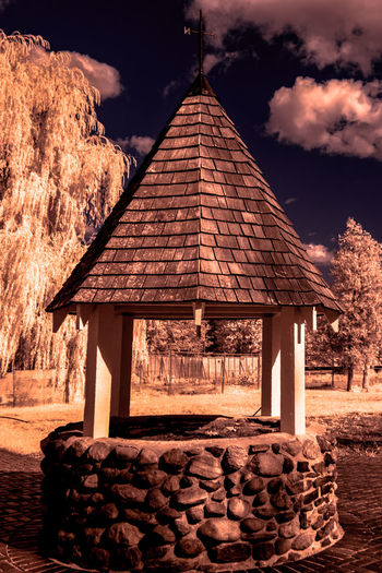 Good Morning Dear Friends (and an extra-special Good Morning to my Haters). Here's a wishing well [IR+UV] 'cos I wish you all well ;) Architecture Built Structure Canada Coast To Coast Capture The Moment Check This Out Clouds And Sky Enjoying Life Exceptional Photographs Eye4photography  EyeEm Best Shots First Eyeem Photo For My Friends That Connect For My Haters That Block Me :) Getting Inspired Good Day Hanging Out Hello World Nature Relaxing Sky Taking Photos Tree Walking Around Water Wishing Well