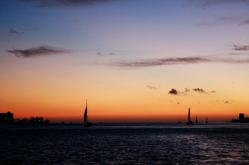 Sunset Silhouette Orange Color Sky Tranquility Beauty In Nature Nature Water Sea Outdoors Scenics Clear Sky Yacht River River View Tejo River Tejo Sunset_collection Sunset Silhouettes Sunset Silhouette Pink Sky Evening Sky Sunset Over Water Sunsetoverwater Summer Exploratorium