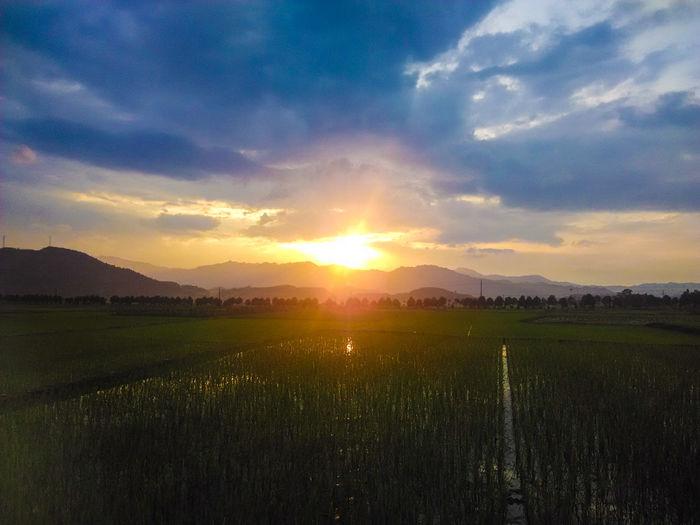 Sunset in Hunan, China Travelaroundtheworld ThousandMiles Follow4follow Travel Photography Traveling In China Backpacking ASIA China Hunan Enjoying Life Travelingtheworld  Relaxing Sunset Sunset And Clouds  Sunsetphotographs Sunsets