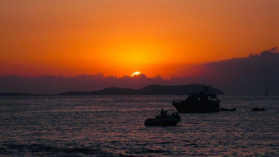 https://youtu.be/fo9GjpHOjOM Sunset Water Sky Sea Nautical Vessel Orange Color My Best Photo Waterfront Scenics - Nature Beauty In Nature Transportation Mode Of Transportation Tranquility Tranquil Scene Silhouette Idyllic