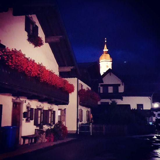 Garmisch-partenkirchen Bayern Deutschland Germany Night Architecture Building Exterior No People Built Structure Roof Religion