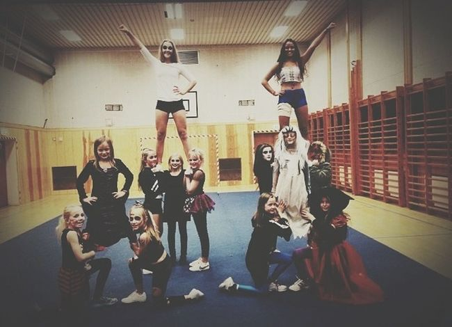 i love training these little cuties! haha they are strong tho, cause they are only 9-12 years and they still can lift me.. LetsGoPirates Cheerleading Peewee Girl