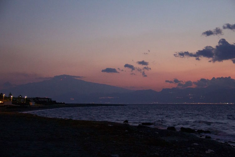 Sunset Reggio Di Calabria ReggioCalabria Etna Stretto Di Messina Sky Skyporn Volcano EyeEm Best Shots