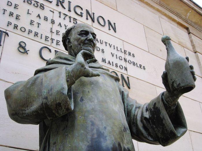 Dom Pierre Perignon Monk  Champagne Statue Sculpture City Close-up Monument Historic
