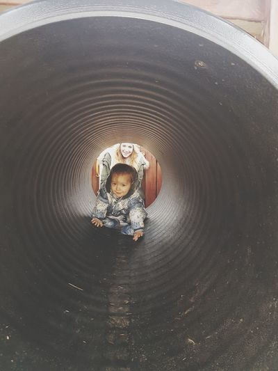 EyeEm Selects Child High Angle View One Boy Only Children Only One Person Childhood People Day Boys Concentric Nature Outdoors Toddler  Baby Playing Tunnel Tunnel Entrance Tunnels Tunnel View