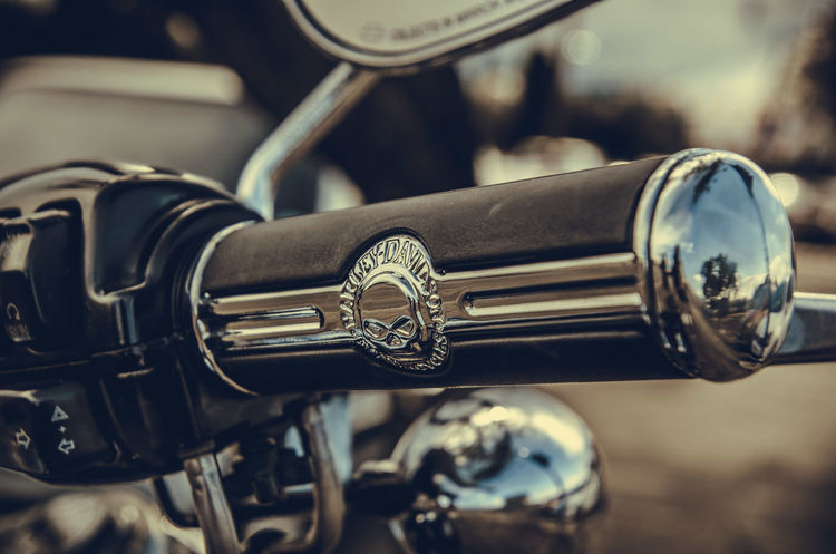 Close-up Day Focus On Foreground Harley Davidson Harleydavidson Metal Motorcycle No People Outdoors Throttle