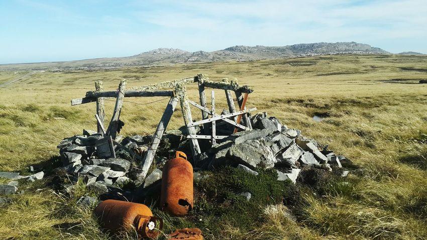 War Trench Falklands Malvinas Guerra Dolor Sadness Landscape Mountain Sky Tranquil Scene Tranquility Non-urban Scene Grass Field Scenics Remote Hill Cloud Travel Destinations Mountain Range Nature Solitude Non Urban Scene Outdoors