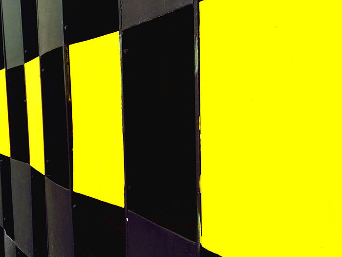 Detail shot of yellow wall
