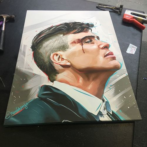 #PEAKYBLINDERS canvas just done. Done artwork for someone then added to a A1 canvas. What you think want any ? Peakyblinders