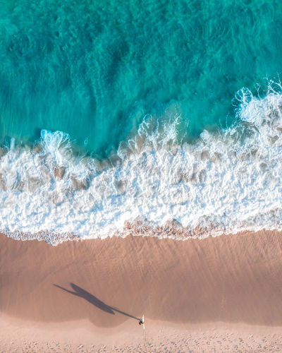'The way to get started is to quit talking and start doing' Water Sea Land Nature Aquatic Sport Sport Motion Day Beauty In Nature Sand Beach Wave Surfing Sunlight Scenics - Nature Tranquil Scene High Angle View Outdoors Turquoise Colored Surfer Surf Ocean Aerial View Drone  EyeEm Best Shots My Best Photo