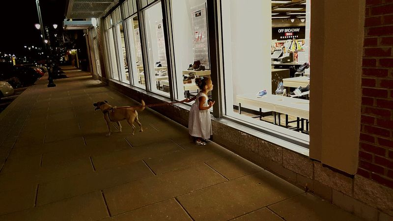 Dogandgirl Windowshopping Littlelifebigworld Differentagendas Spiceoflife