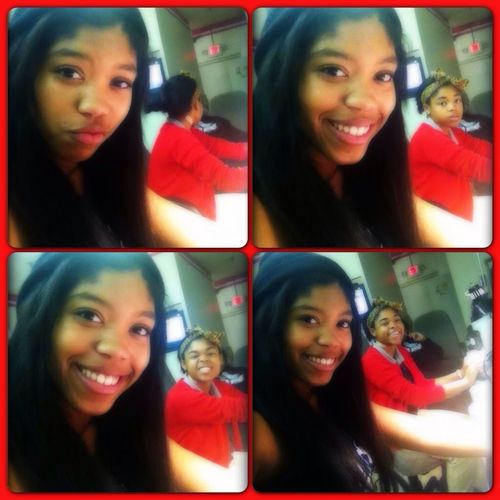 Me&& My Lil Sis At Da Nail Shop