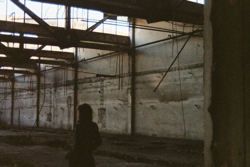 Decay Abandoned Architecture Beauty In Decay Built Structure Day Dear Exploration Indoors  One Person People Punk Is Not Dead Real People Urban EyeEmNewHere Fashion Stories