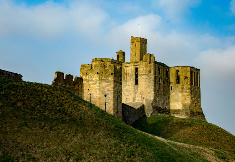 Fortress Ancient Ancient Civilization Architecture Building Exterior Built Structure Castle Cloud - Sky Day Fort History Low Angle View Medieval Nature No People Northumberland Old Ruin Outdoors Sky The Past Travel Destinations Warkworth Castle
