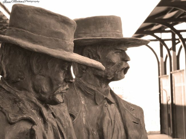 Wyatt Earp and Doc Holliday. Photography Popular Photos Statue Oldwestern Arizona Oldwest Photofilter Tombstone Tucson