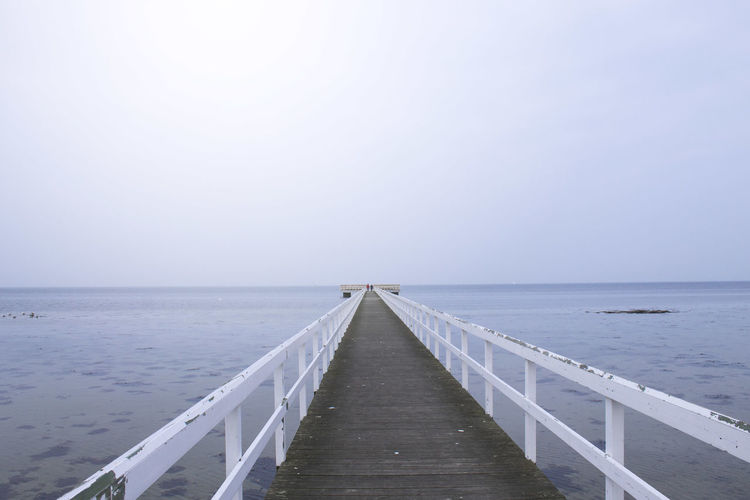 Baltic Sea Malmö Scandinavia Sweden Beach Beauty In Nature Blue Clear Sky Day Horizon Horizon Over Water Jetty Nature No People Outdoors Pier Railing Scenics Sea Sky The Way Forward Tranquil Scene Tranquility Water Wood Paneling EyeEmNewHere
