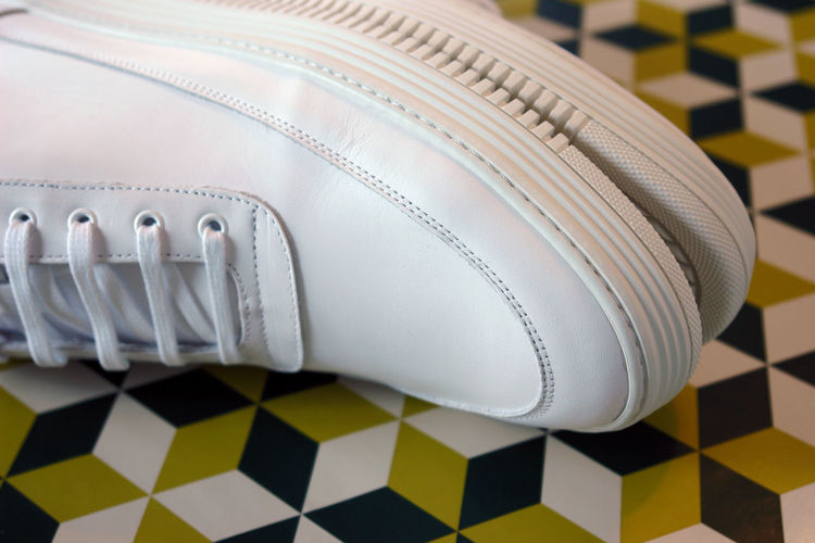 Close-Up Of Pair Of White Shoes