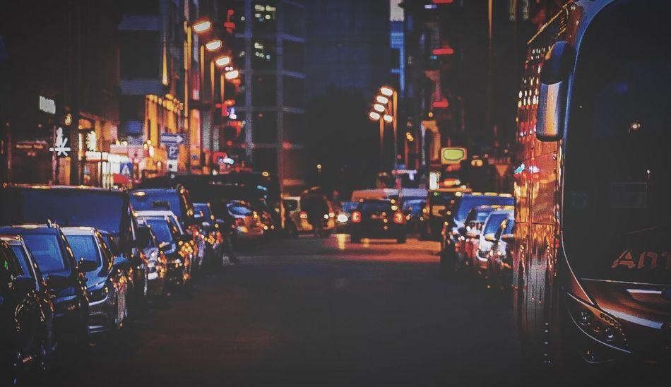 Night Illuminated Car Mode Of Transport Transportation Architecture City Building Exterior Red Light District Frankfurt Am Main Germany Nightphotography EyeEm Night Shots Night Shots  Urban Exploration Urban Photography
